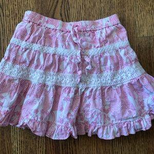 Lilly Pulitzer pink rhino skirt